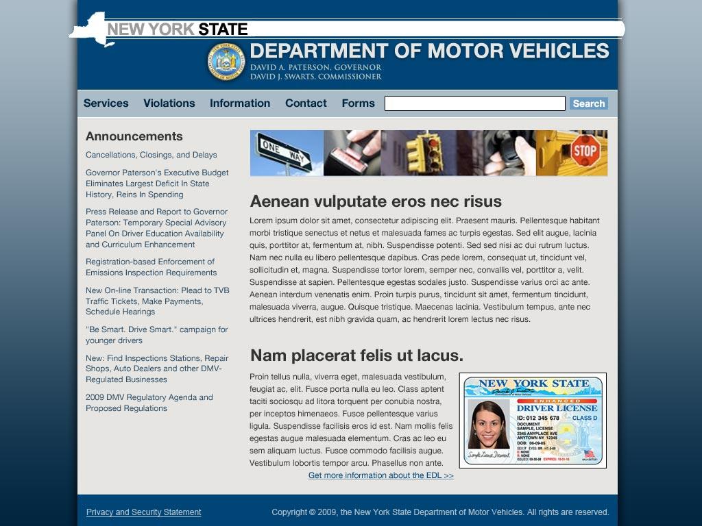 exploration » Blog Archive » 1-2-10: NY DMV redesign